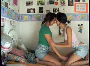 2 warm teenage lesbos having fuck-fest..