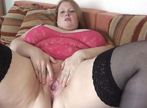 Playful German huge young woman..