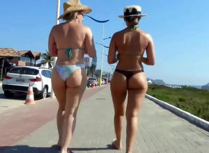 Candid latin beach damsels and their..