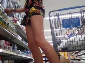 lady elevates up her mini sundress in..